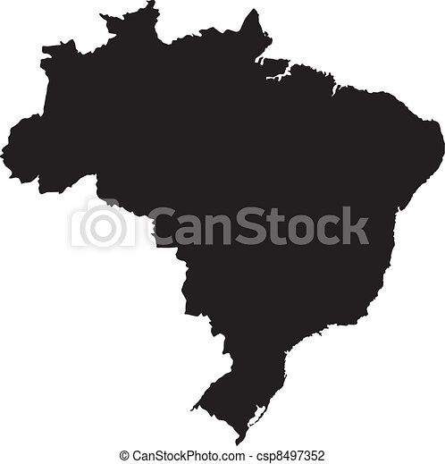 Vector illustration of maps of  Brazil - csp8497352