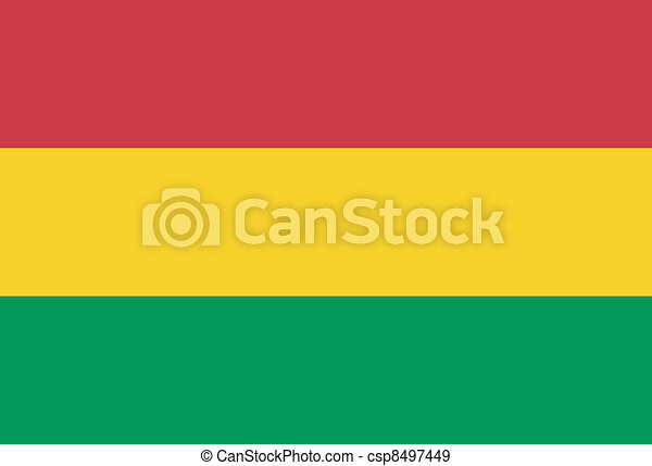 Vector illustration of the flag of  Bolivia - csp8497449