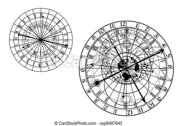 astronomical clock - vector - csp8497643