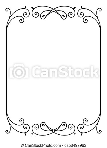 Vector floral ornamental decorative frame - csp8497963