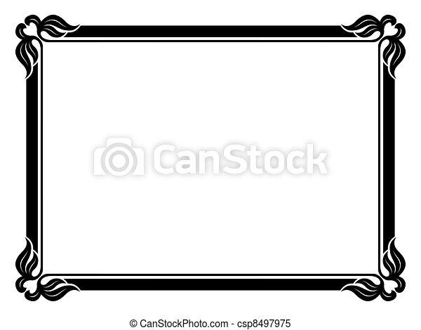 simple ornamental decorative frame - csp8497975