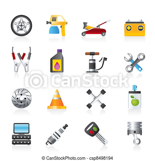 Transportation and car repair icons - csp8498194