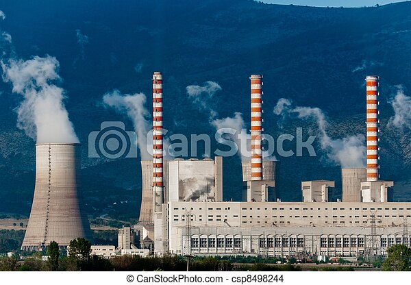 Fumes coming out of power plant - csp8498244