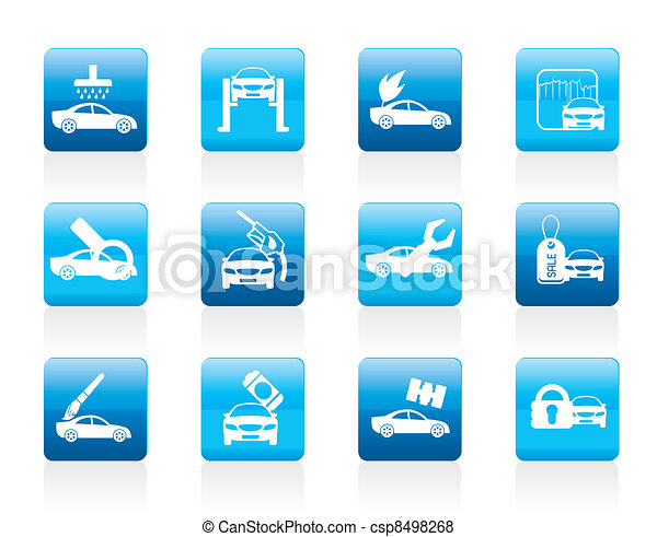 car and automobile service icon - csp8498268
