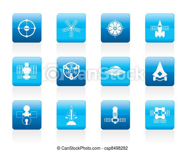 future spacecraft icons - csp8498282