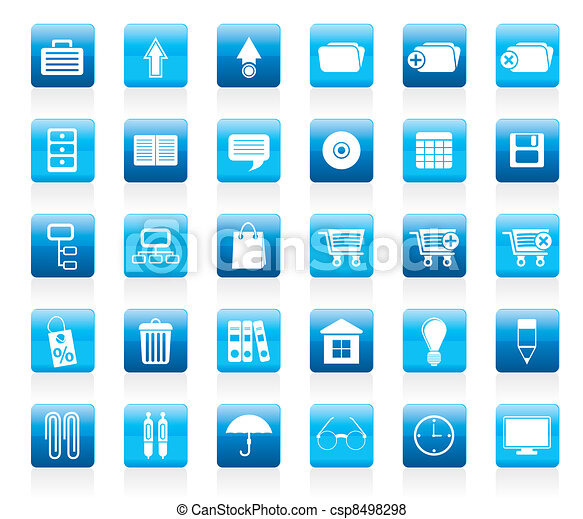 Business and office icons - csp8498298