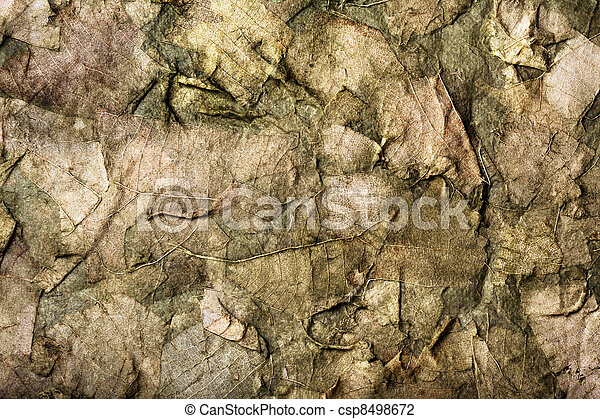 background of the old dry leaves in a dirty-green hues - csp8498672