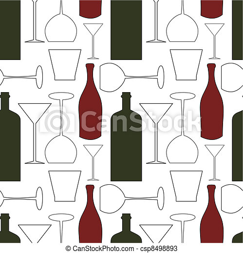 Wine pattern - csp8498893