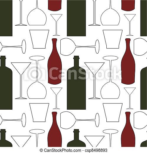 Wine pattern - csp8498893
