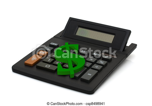 Calculating your finances - csp8498941