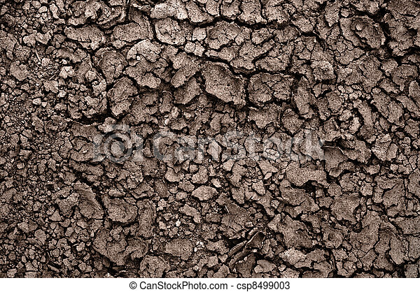 Dry soil closeup before rain - csp8499003