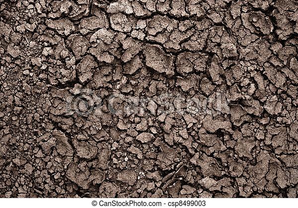 Dry soil closeup before rain - csp8499003