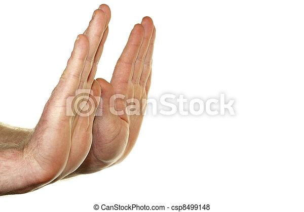 Hands Refusing - csp8499148
