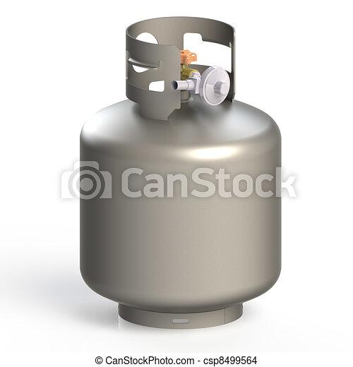 Dibujos De Gas Tanques Gas Globo Aislado En Un