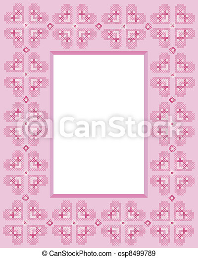 Cross stitch frame - csp8499789
