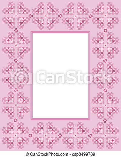 Cross stitch frame - csp8499789