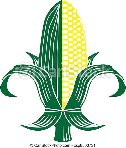 Corn Fleur-de-lis - csp8500731