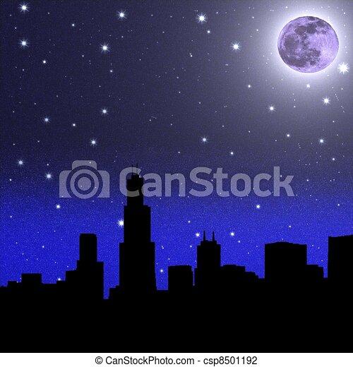 christmas night sky clipart - photo #36