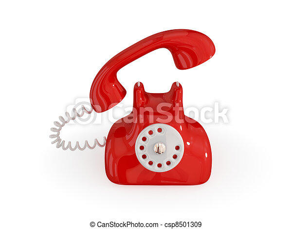 Cartoon retro telephone. - csp8501309