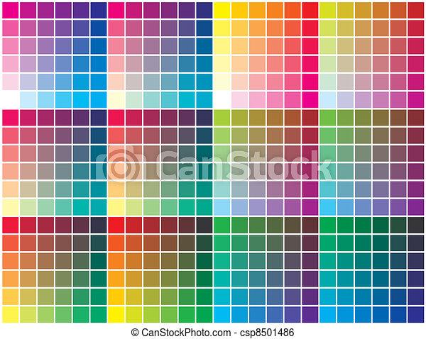 Vector color palette - csp8501486