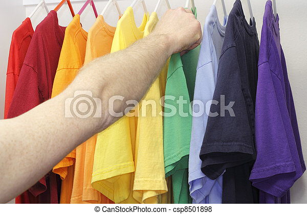 Picking Out a Shirt - csp8501898