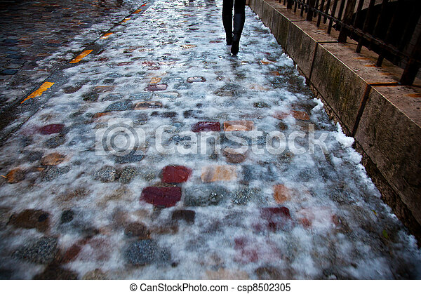 icy pavement - csp8502305