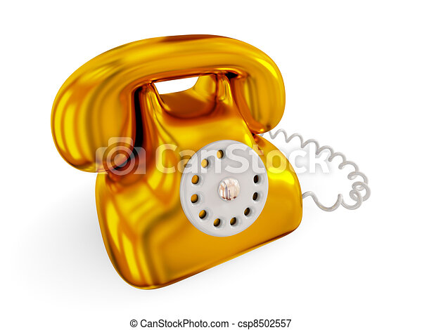 Golden rentro telephone. - csp8502557