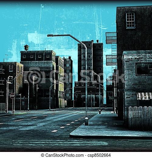 Street Grunge - csp8502664