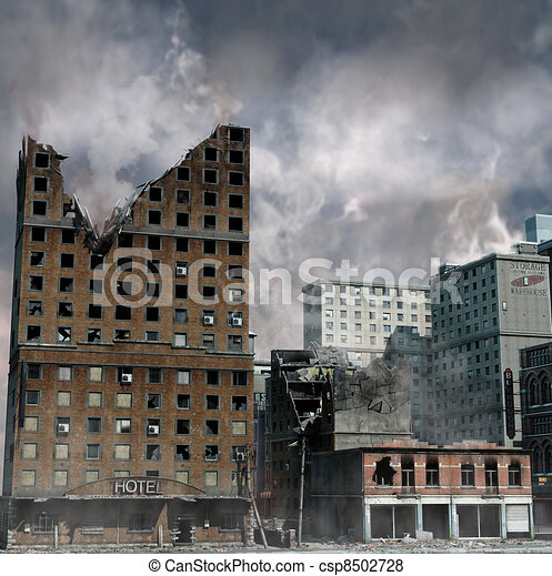 Urban Destruction - csp8502728