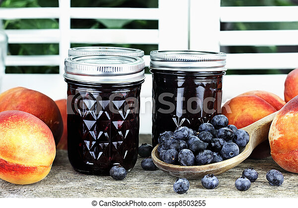 Blueberry Peach Preserves - csp8503255
