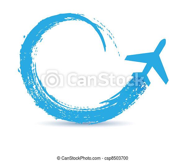 civil airplanes paths icon - csp8503700