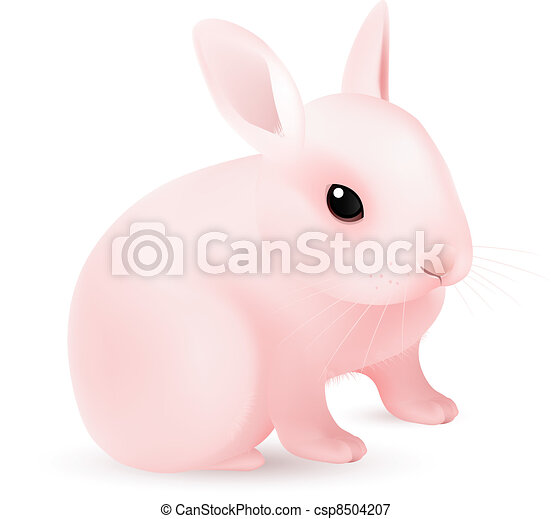Pink Easter Bunny - csp8504207