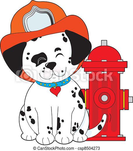 Dalmation Fire Dog - csp8504273