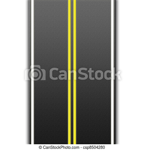 highway with road markings - csp8504280