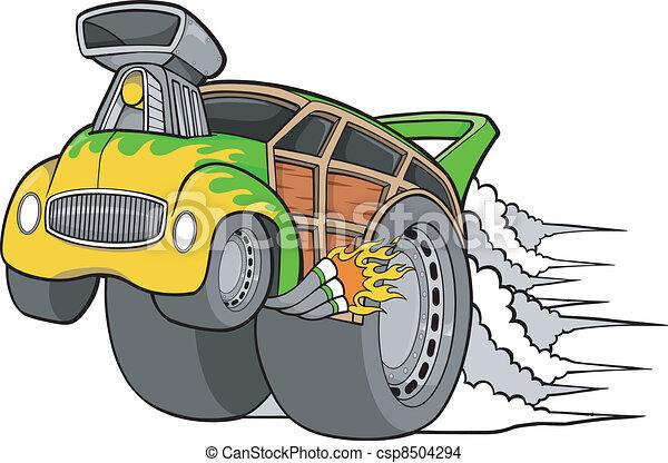Woody Car Drawing Vector Woody Wagon Racer Car