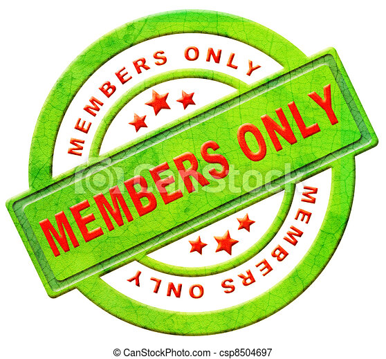 members only restricted area - csp8504697