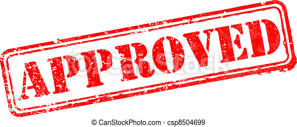 Approved rubber stamp - csp8504699