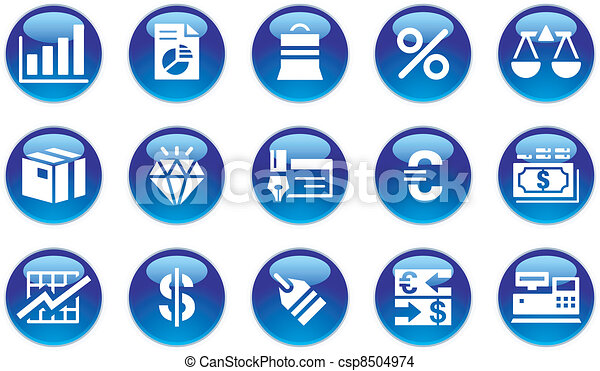 Business & Finance Icons Set - csp8504974