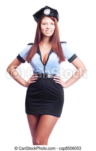 sexy policewoman - csp8506053