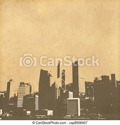 vintage paper - csp8506407