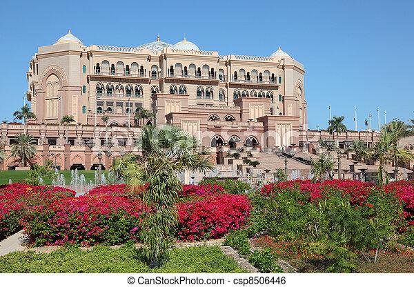 The Emirates Palace in Abu Dhabi, United Arab Emirates - csp8506446