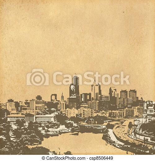 vintage paper - csp8506449