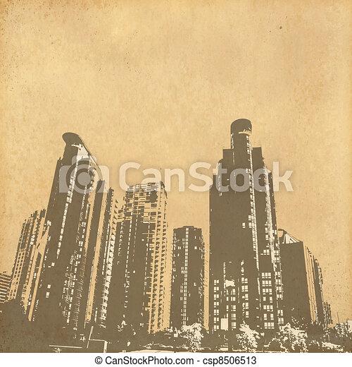 vintage paper - csp8506513