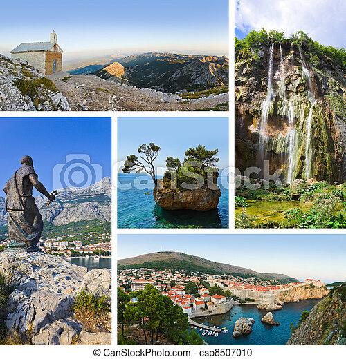 Collage of Croatia travel images - csp8507010