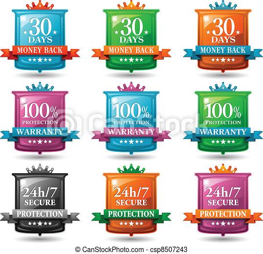 web satisfaction guarantee badges - csp8507243