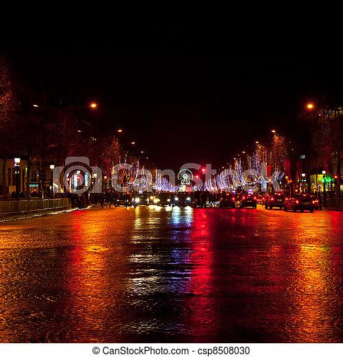Champs Elysees, Paris - csp8508030