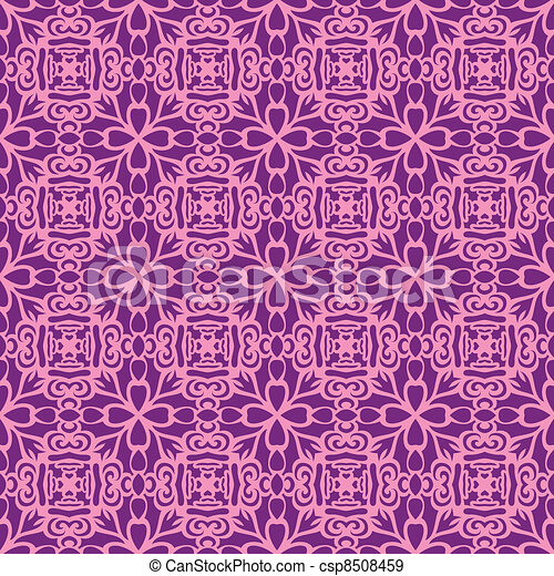 Pink fun seamless pattern - csp8508459