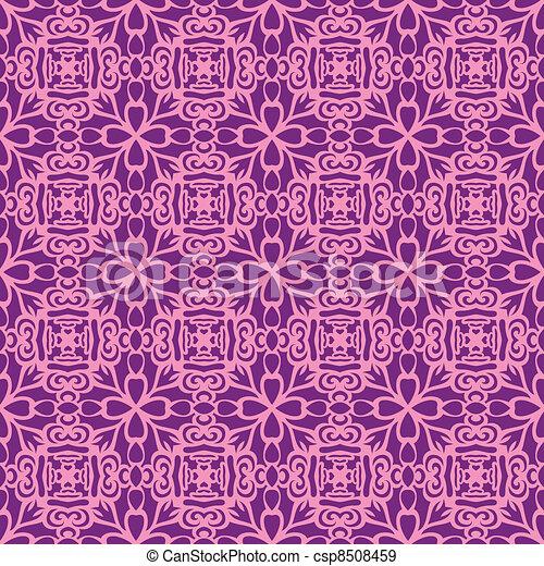 Pink fun seamless pattern - csp8508459