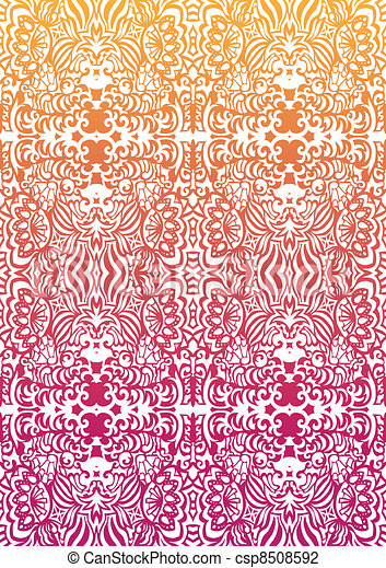 Happy orange-pink seamless pattern - csp8508592