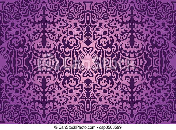 Violet elegant seamless pattern - csp8508599
